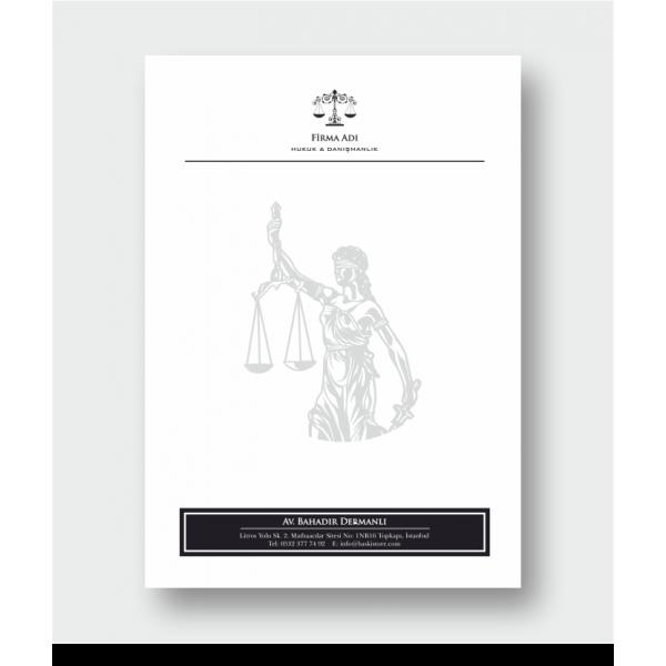 Avukat Antetli Kağıt 1190