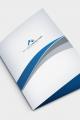 Mavi Beyaz Cepli Dosya